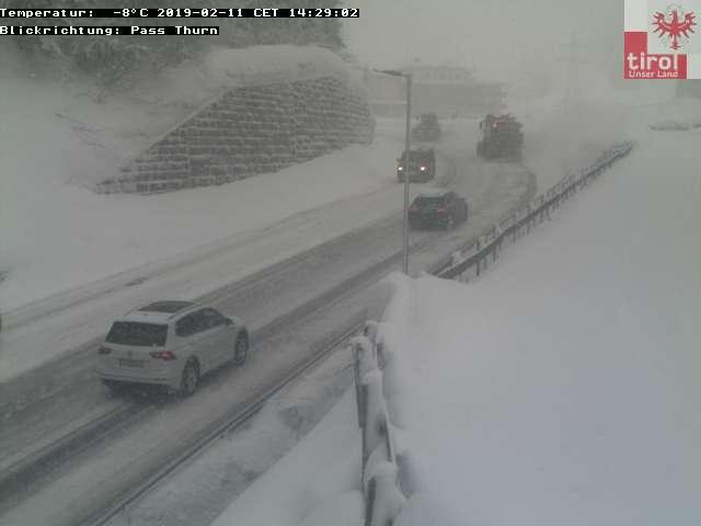 Kitzbühel weg sneeuwvrij 11 feb 2019
