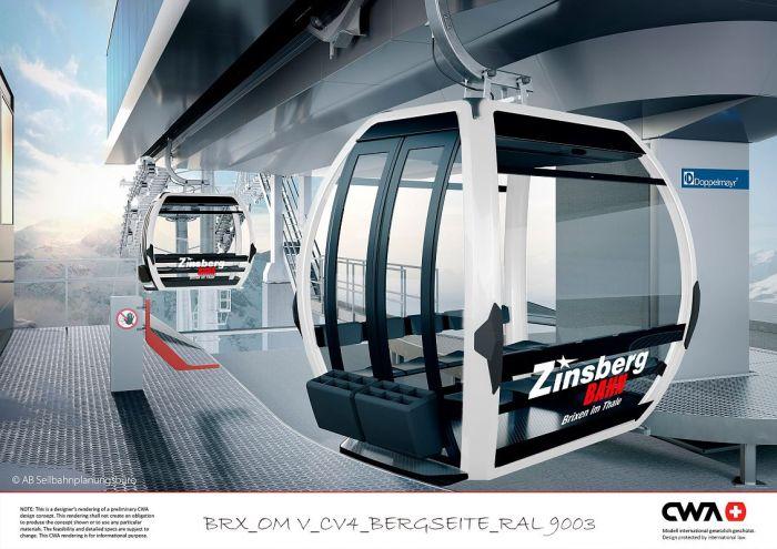 Zinsbergbahn cabines