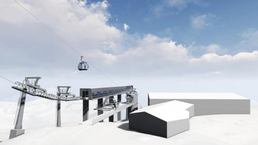 nieuwe middenstation Rotkogelbahn Hochsölden