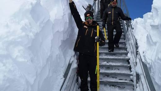 Stubaier Gletsjer Uitzichtplatform ingesneeuwd