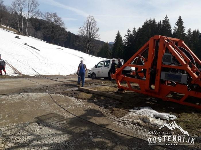 Brixen im Thale Zinsbergbahn Bubble Express afbouw