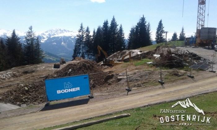 Brixen im thale Zinsbergbahn bouwplaats