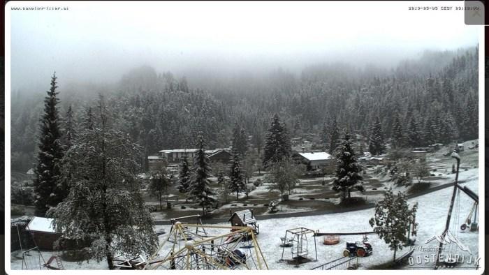 Camping Itter sneeuw 5 mei 2019