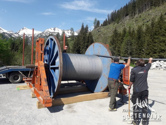 Hintertux Gletscherbus 3 nieuwe kabel