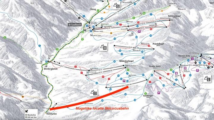 Mogelijke locatie Skicircusbahn