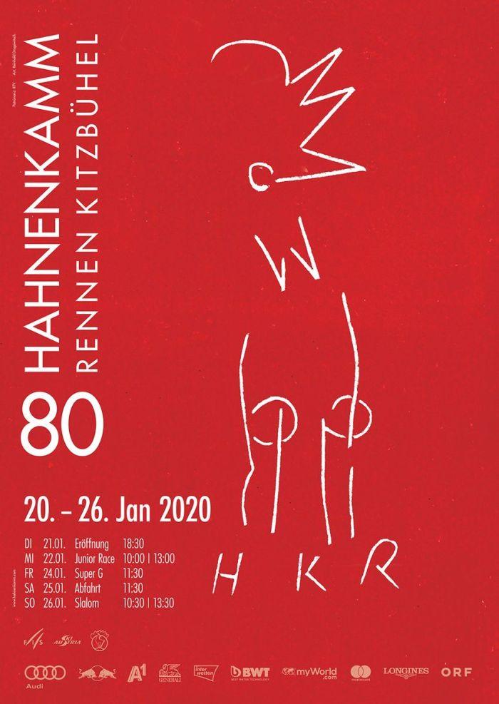 Hahnenkamm Plakat 2020 80e editie