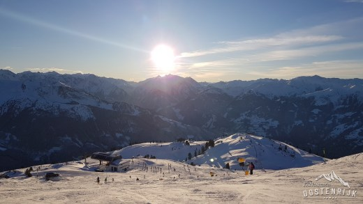 Zillertal Arena Zonsondergang