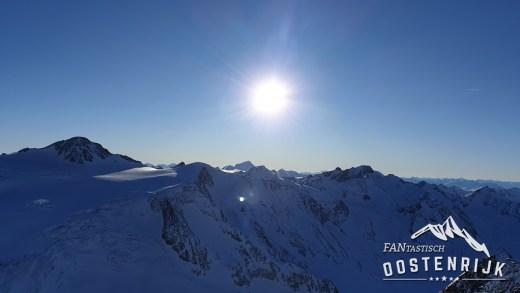 Tirols hoogste zonsondergang Pitztaler Gletsjer