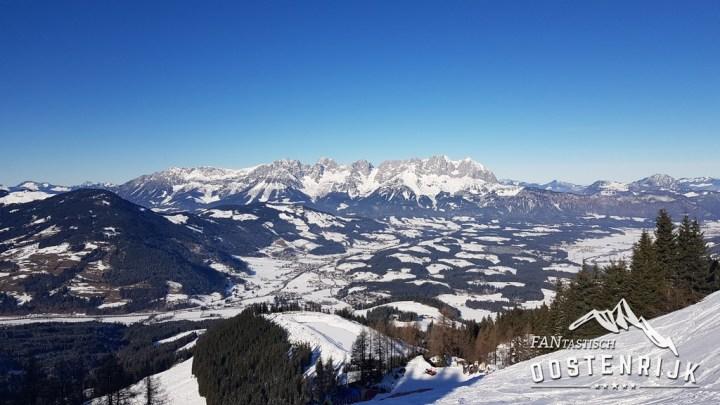 Kitzbühel Hahnenkamm uitzicht op Wildenkaiser