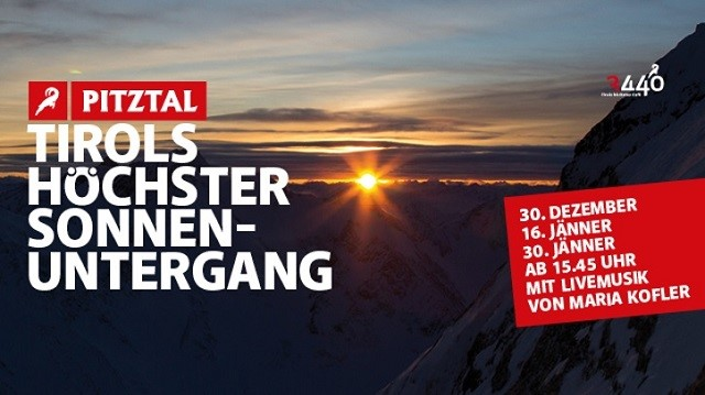 Zonsondergang Pitztaler Gletsjer
