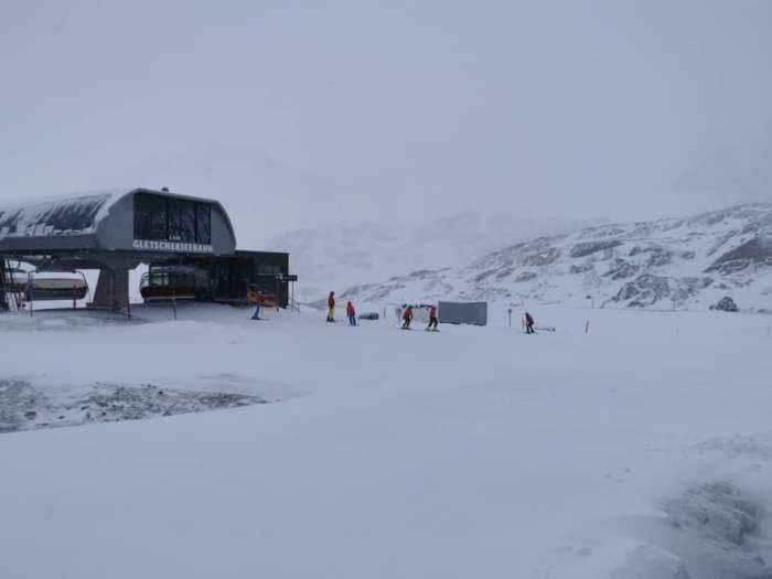 Pitztaler Gletsjer sneeuw op 26 september 2020 50 cm sneeuw