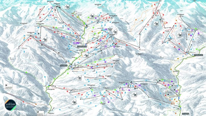 Saalbach pistekaart 2020 2021