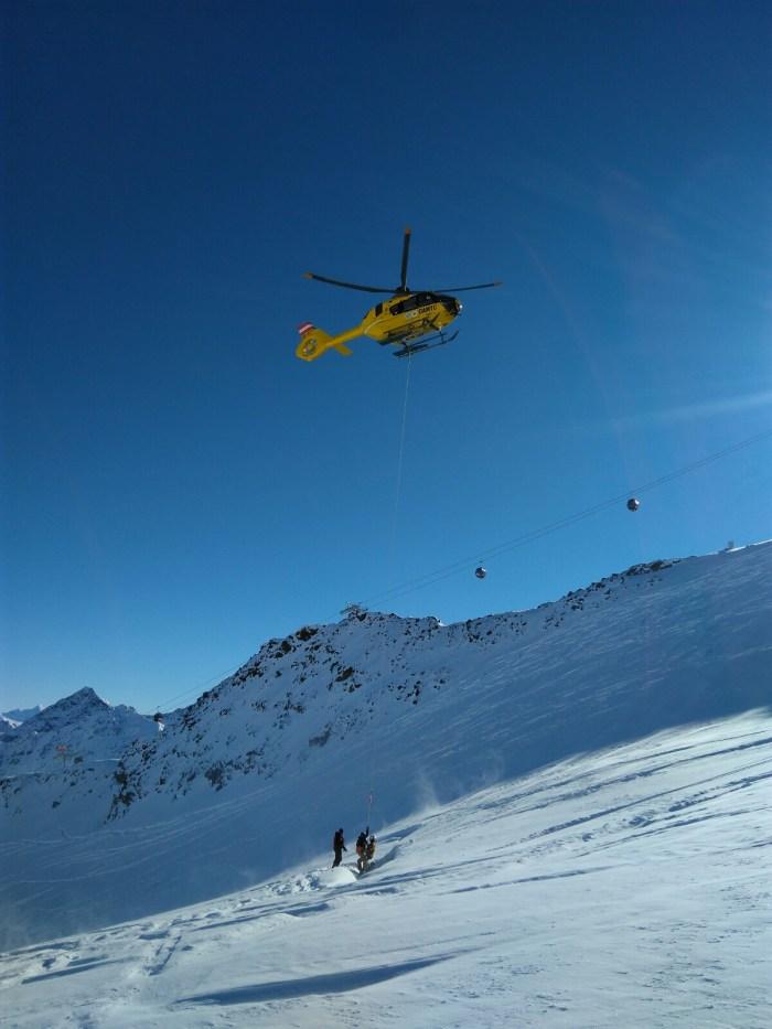 Pitztaler Gletsjer redding uit Gletsjerspleet