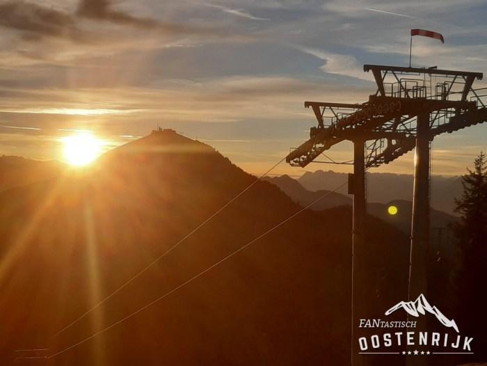 Zonsondergang Hohe Salve SkiWeklt