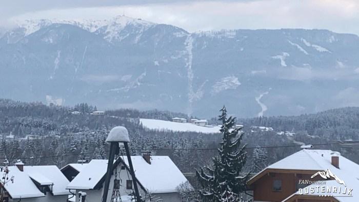 Lieserbrücke uitzicht op de Goldeckbahn 3 december 2020