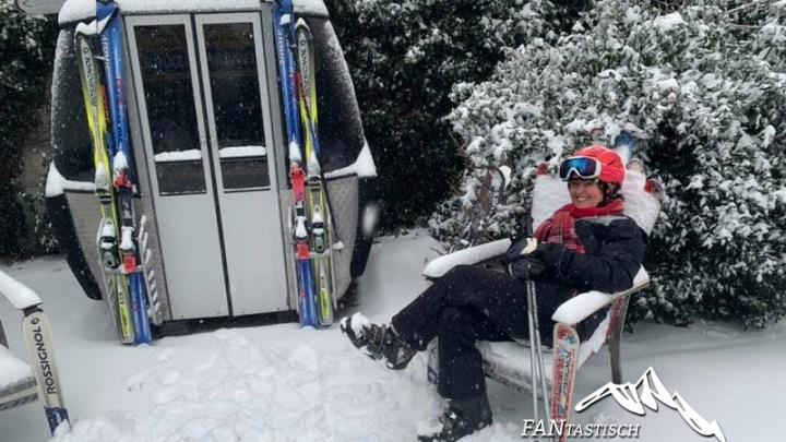 Salvistabahn in Nederland in de sneeuw
