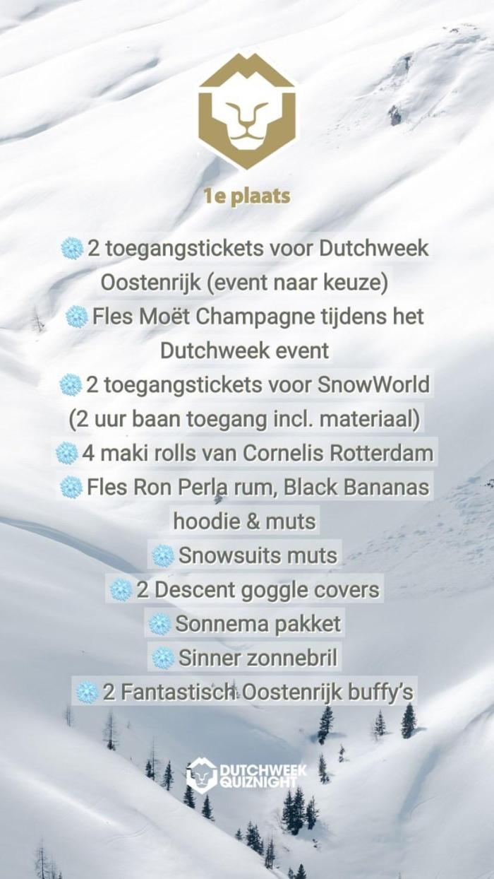 1e plaats Dutchweek Pub Quiz