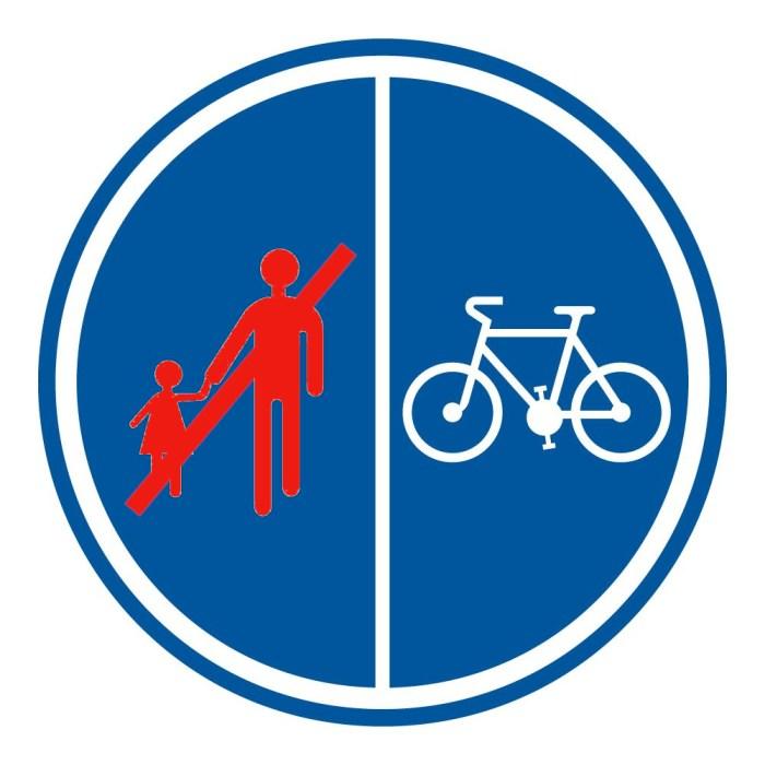 Verkeersbord Mountainbikers Wandelaars