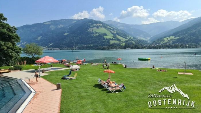 Zell am See zwembad aan het meer