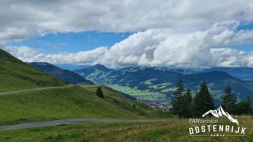 Fleckalm Kirchberg uitzicht richting het Brixental