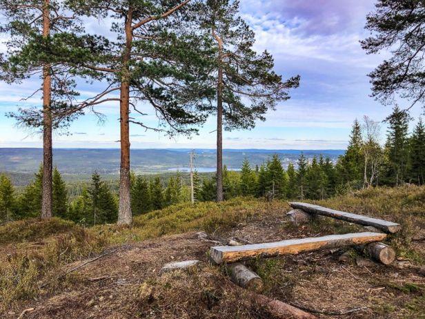Utsikten fra Skjennungstoppen mot Maridalsvannet - Oslomarka - Nordmarka - Fantastiske marka