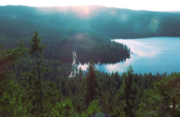 Utsikten mot Øyungen og Øyungsdammen fra Øyungskollen - Oslomarka - Nordmarka - Fantastiske marka