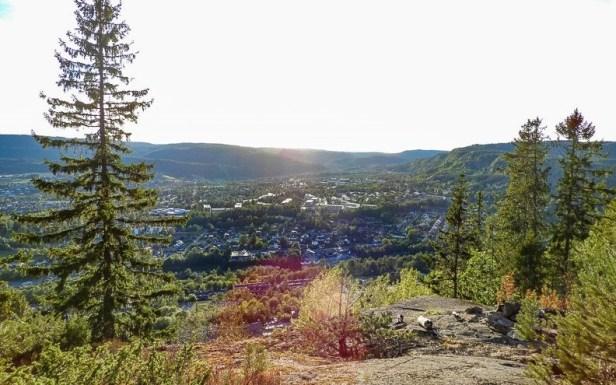 Utsikt over Rykkin fra Lille Kolsås - Oslomarka - Bærumsmarka - Fantastiske marka