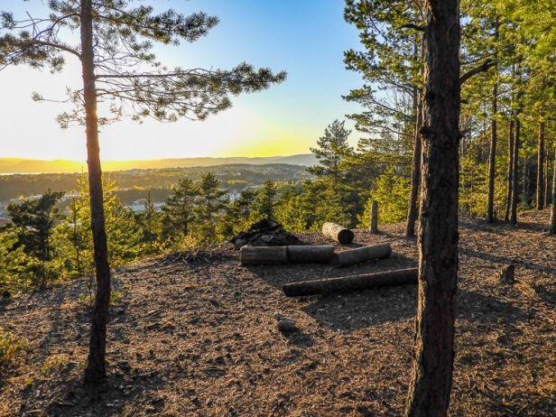 Utsikt fra Korpåsen ved Skullerud - Oslomarka - Østmarka - Fantastiske marka