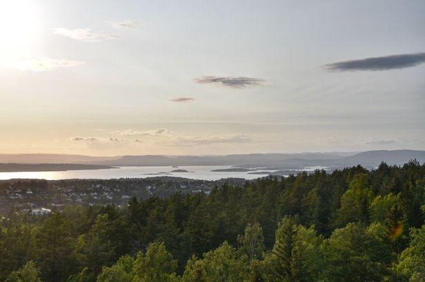 Flott utsikt fra utsiktstårnet på Grønliåsen - Oslomarka - Sørmarka - Fantastiske marka