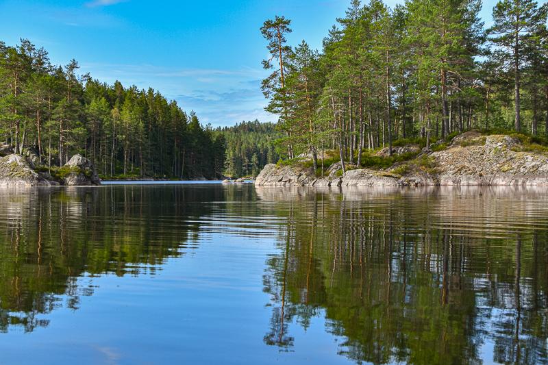 To øyer på Børtervanna i Enebakk - Oslomarka - Østmarka - Fantastiske marka