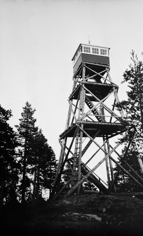 Anno Norsk Skogmuseum - Brannvakttårn på Haveråsen - Julius Nygaard - etter 1928