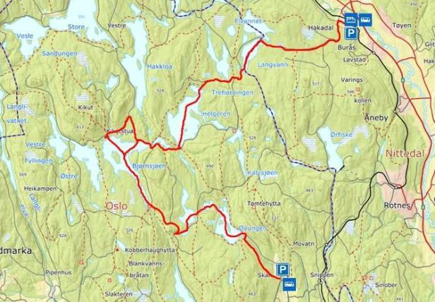 Padlerute - Nordmarka mot klokka - Hakadal til Maridalen - Kanotur - Oslomarka - Fantastiske marka