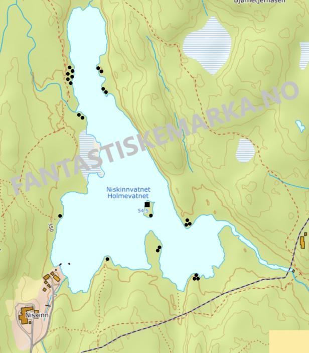 Teltplasser - Holmevatnet på Krokskogen - Niskinnvann - Oslomarka - Fantastiske marka