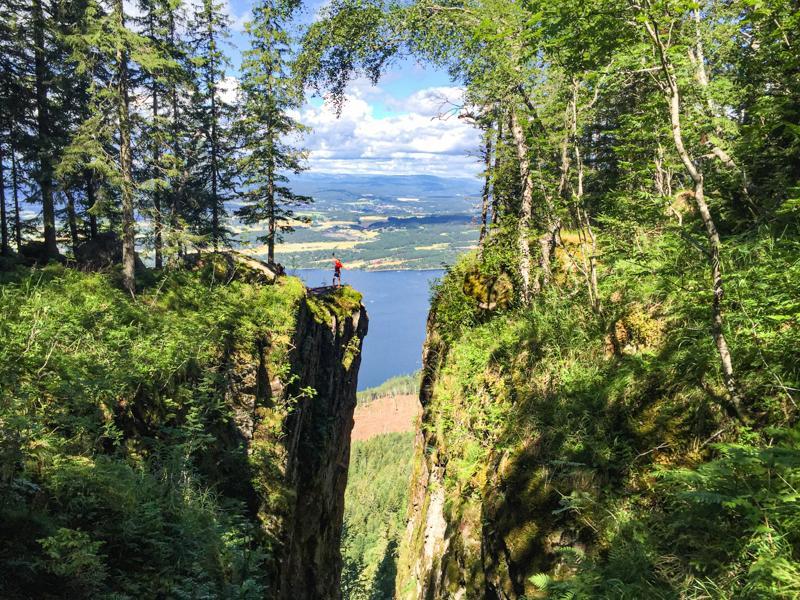 Utsikt mot Mørkgonga og Røyselandet - Oslomarka - Krokskogen - Fantastiske marka