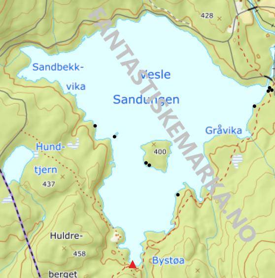 Teltplasser - Hengekøyeplasser - Leirplasser - Vesle Sandungen - Oslomarka - Nordmarka - Fantastiske marka