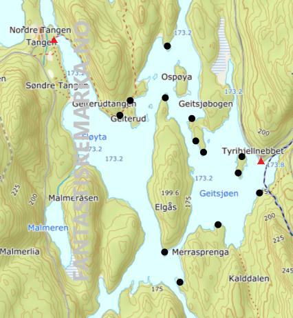 Teltplasser - Hengekøyeplasser - Overnattingsplasser rundt Fløyta og Geitsjøen i Østmarka - Oslomarka - Fantastiske marka (wecompress.com)