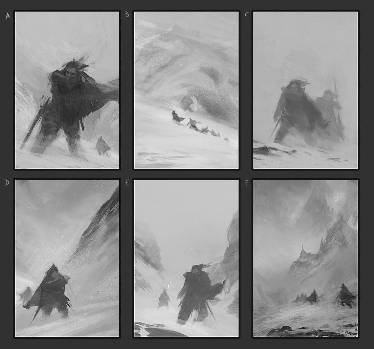 Design roughs for Too Cold to Bleed