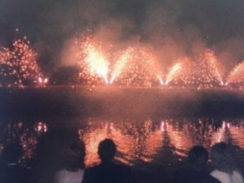 Trinity May Ball Fireworks 1986 - Original photography by T.O.Munro