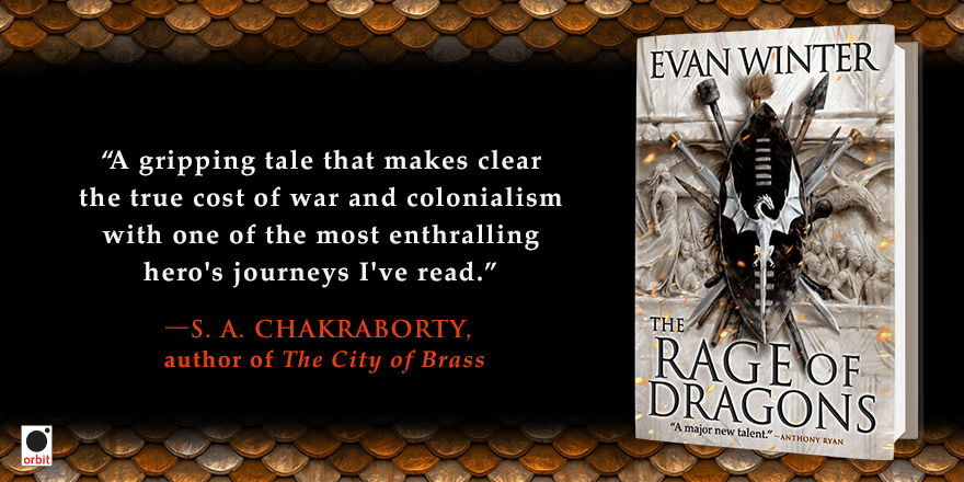 The Rage of Dragons by Evan Winter (Orbit Books Promotional Banner)