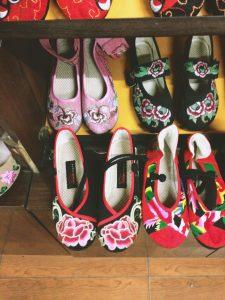 Pingyao, China, China Tourism, Pingyao Tourism, Chinese silk shoes