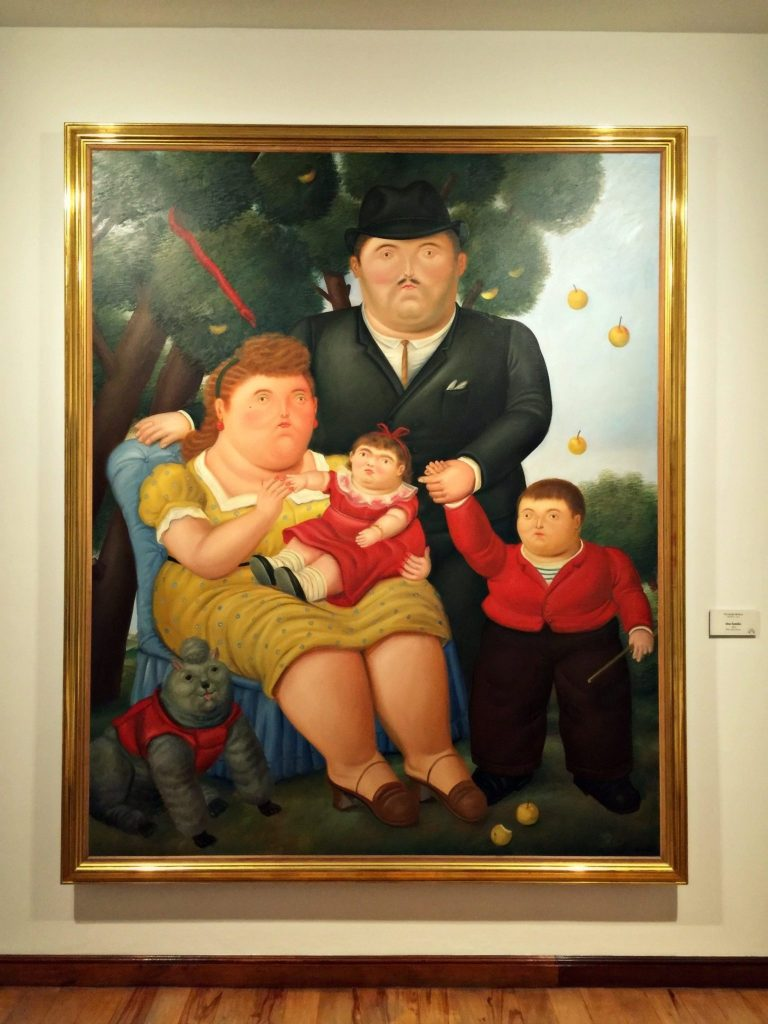Botero's painting, Una Familia at the Museo Botero