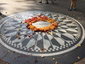 "Fantasy Aisle, Strawberry Fields, ""Imagine,"" a tribute to John Lennon of the Beattles"