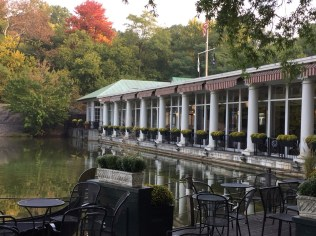 Fantasy Aisle, The Loeb Boathouse, a spot for weddings, relaxing or dinner and paddle boating