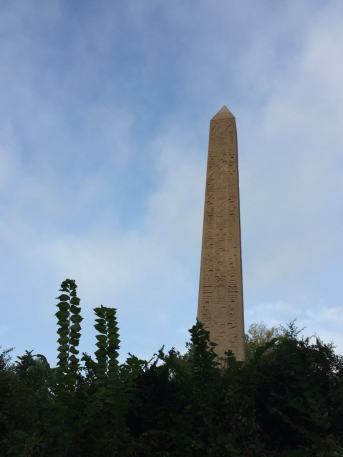 Fantasy Aisle, Obelisk, nicknamed Cleopatra's Needle, oldest man-made object in Central Park, and oldest outdoor monument in NYC