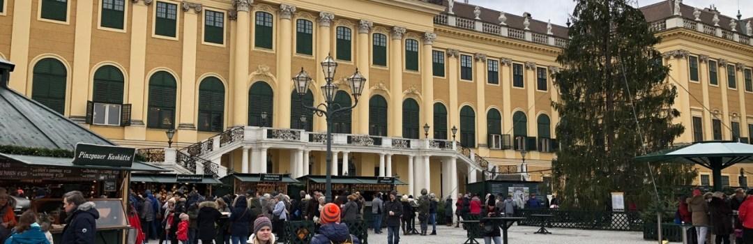 Fantasy Aisle, Christmas Market at Schönbrunn Palace in Vienna, Austria