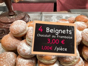 Fantasy Aisle, Beignets with strawberry or chocolate in Stasbourg, France