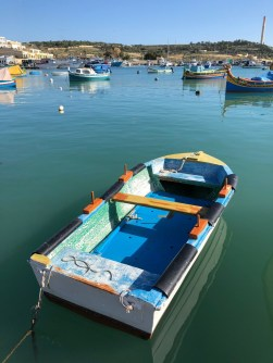Fantasy Aisle, Fishing boat at Marsaxlokk, Malta