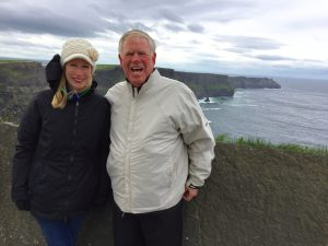 Fantasy Aisle, My dad and me at the Cliffs of Moher, Ireland in 2017