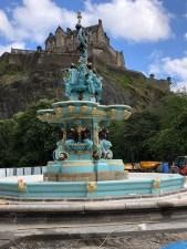 Fantasy Aisle, Historic fountain underneath the shadows of the Edinburgh Castle
