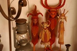 still life fantasy dolls orange warm colours elves